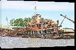 Toiles imprimées Photo épave de bateau en Argentine