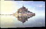 Toiles imprimées Photo du Mont Saint Michel miroir