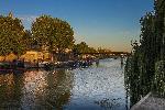 Photo lever soleil sur lac