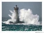 Poster photo Tempête sur le phare du Four, Finistère, Bretagne
