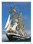 Poster photo Le trois-mâts barque Belem toutes voiles dehors