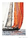 Poster photo Spi orange aux Voiles de Saint-Tropez
