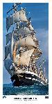 Poster photo Sous l'étrave du Belem, dernier trois-mâts barque français