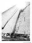 Poster photo Classique Yacht noir et blanc