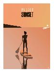 Poster photo illustration Paddle Sunset