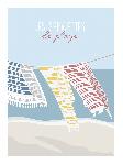 Poster photo illustration Les serviettes de plage