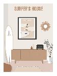 Poster photo illustration Surfer's House