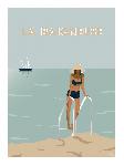 Poster photo illustration La baigneuse