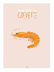 Poster photo illustration Madame la crevette
