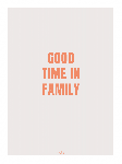 Poster photo illustration Good time in family