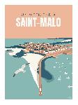Poster photo illustration Un week-end a Saint-Malo