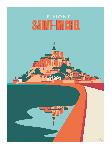 Poster photo illustration Le Mont Saint-Michel