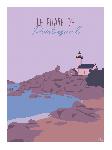 Poster photo illustration Le phare de Pontusval