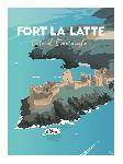 Poster photo illustration Fort La Latte, Côte d'Emeraude