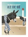 Poster photo illustration Les ânes en culotte, île de Ré