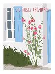 Poster photo illustration Les roses trémières