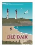 Poster photo illustration Balade sur l'île d'Aix