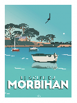 Poster photo illustration Le Golfe du Morbihan
