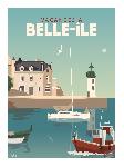 Poster photo illustration Vacances à Belle-île