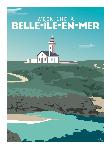 Poster photo illustration Week-end à Belle-île-en-Mer