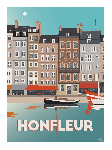 Poster photo illustration Honfleur
