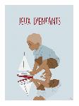 Poster photo illustration Jeux d'enfants