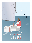 Poster photo illustration Un mercredi à la mer