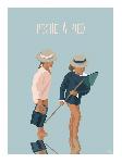 Poster photo illustration Pêche à pied