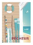 Poster illustration La maison du pêcheur