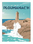 Poster illustration Le phare de Ploumanac'h