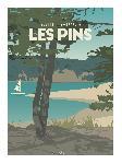 Poster illustration Sables-d'Or-Les-Pins