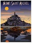 Affiche illustration Mont st Michel