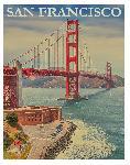 Affiche vintage rétro pont de San Francisco