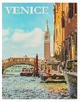Affiche style rétro vintage Venise en Italie