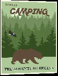 Impression sur aluminium Affiche illustrée camping