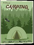 Impression sur aluminium Affiche illustrée camping 3