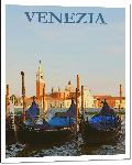 Impression sur aluminium Affiche Venise italie
