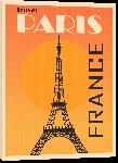 Toiles imprimées Affiche style vintage rétro france Paris