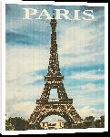 Toiles imprimées Affiche style vintage rétro Paris France