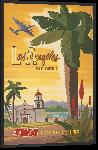 Impression sur aluminium Affiche style vintage rétro Los Angeles