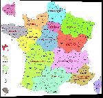 Impression sur aluminium Carte des départements de France