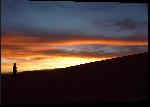 Impression sur aluminium Photo coucher de soleil sur les collines d'Argentine