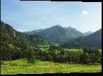 Impression sur aluminium Photo paysage montagneux en Bavière en Allemagne