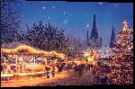 Impression sur aluminium Photo d'un marché de Noël en Allemagne