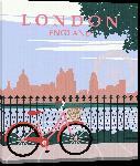 Toiles imprimées Illustration style rétro Londres