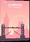 Toiles imprimées Illustration style rétro vintage Londres rose