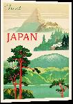 Impression sur aluminium Illustration affiche ancienne Japon