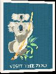 Toiles imprimées Illustration affiche visit the zoo
