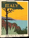 Toiles imprimées Affiche illustration vintage rétro italie