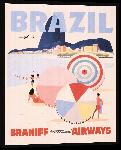 Toiles imprimées Affiche illustration rétro vintage Brésil